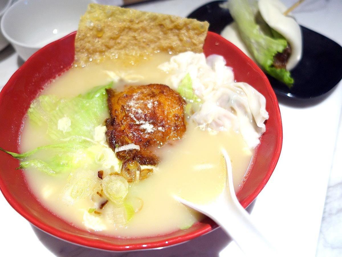 Signature Baked Chicken with Shrimp Dumplings Soup Noodles