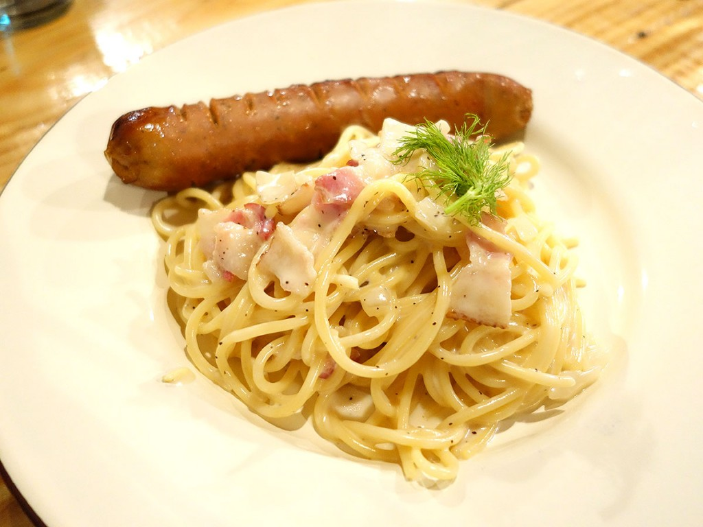 Carbonara Pasta with Sausage