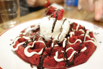 The Red Velvet Waffles