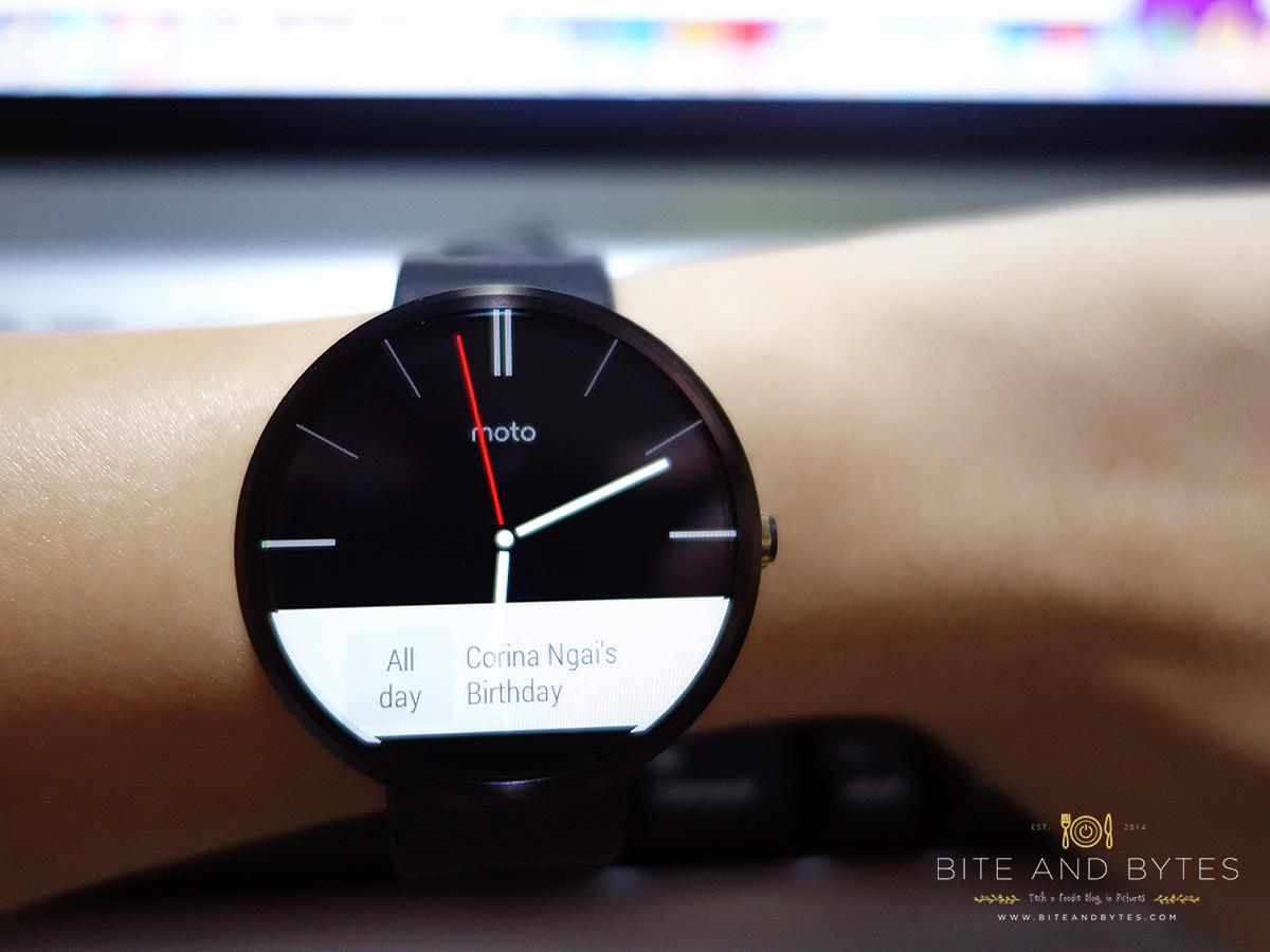 Moto360 on wrist